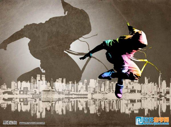 ps合成动感旋律的街舞海报