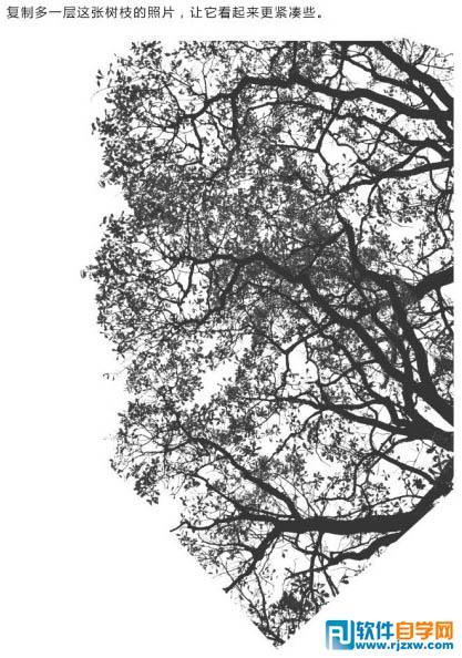 快速制作人物与树木双重曝光效果