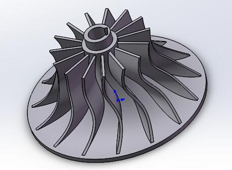 soildworks涡轮叶片的三维模型制作