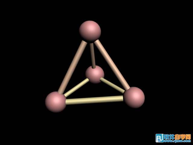 3dmax制作的结构架