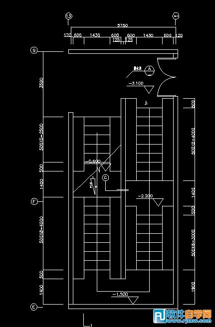 用CAD2007画的自行车坡道平面图-1-软件自cad画图缩放无法