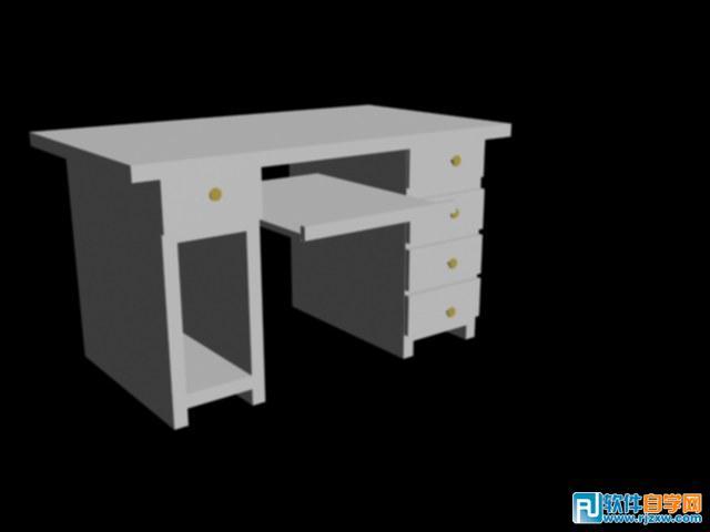 电脑桌的三维图
