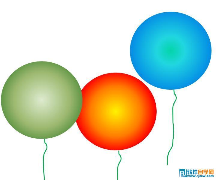 用PPT2007制作各种彩色气球