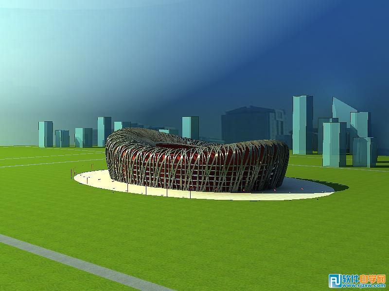 犀牛与VR结合的建筑作品鸟巢