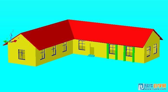 CAD作品建筑房屋造型设计